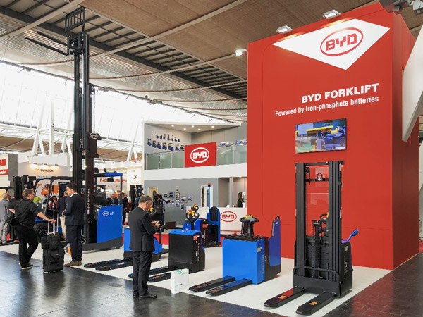 BYD demonstrates strength in depth in emissions free material handling 9 premieres amongst 12 model