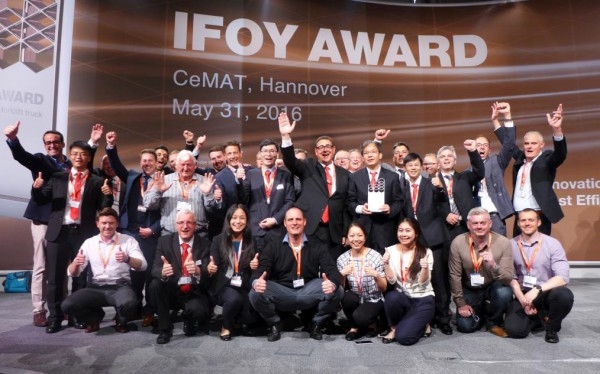 BYD electric forklift ECB18C triumphs at CeMAT